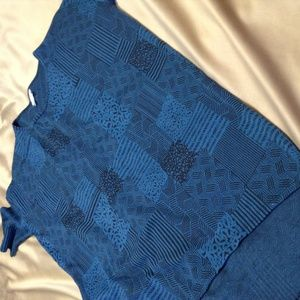 LuLaRoe xs Blue Shirt Short Sleeve